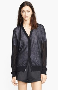 T by Alexander Wang Lined Knit Cardigan available at #Nordstrom