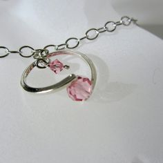 October Birthstone Necklace Birthstone Jewelry by BirdcageGallery, $15.95