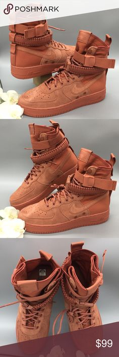 Nike SF Air Force 1 High Dusty Peach Suede | Scarpe