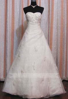 A-line Sweetheart Neckline Classic Deb Dress W686D - Front