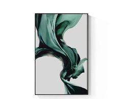 Buddha Canvas, Paris Perfume, Gold Canvas, Green Silk, Abstract Watercolor, Canvas Artwork, Art Paintings, Wall Art Decor, Texture