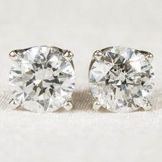 Desirable .88ctw Solitaire Diamond Earrings 14k Gold Screw Back Studs
