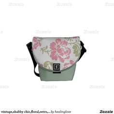 vintage,shabby chic,floral,retro,cute,girly,label, courier bags