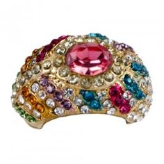 Multicolored Lite Tone Ring - $46 #women #fashion #jewelry