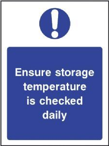 Buy this Ensure Storage Temperature Is Checked Daily Sign online now or explore other Kitchen safety signs and Food Hygiene Signs Food Safety And Sanitation, Food Safety Tips, Restaurant Signs, Restaurant Ideas, Anti Smoking Poster, Kitchen Hygiene, Diner Decor, Safety Posters, Text Background