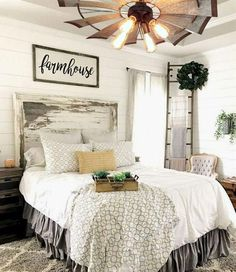Cool Urban Farmhouse Master Bedroom Makeover Ideas, Forged beds are extremely popular for farmhouse bedrooms, so whatever styles you select, it is going to be a great idea. Our Master Bedroom is alway Farmhouse Master Bedroom, Master Bedroom Makeover, Master Bedroom Design, Home Decor Bedroom, Modern Bedroom, Bedroom Ideas, Bedroom Designs, Bedroom Size, Bedroom Rustic