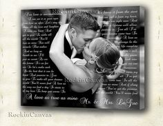 Hey, I found this really awesome Etsy listing at https://www.etsy.com/listing/196524792/wedding-vows-canvas-blackwhite