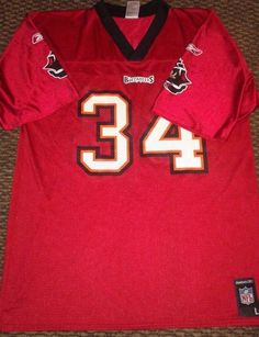 Earnest Graham #34 Tampa Bay Bucs NFL Players Inc Jersey Large
