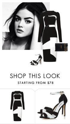 """""""Untitled #1108"""" by randeee ❤ liked on Polyvore featuring Antonio Berardi, Dune and Yves Saint Laurent"""