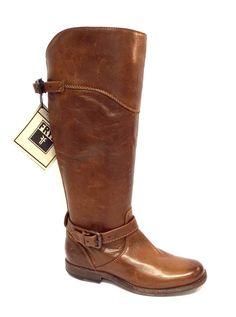 FRYE PHILLIP RIDING Brown Cognac Leather Boot 6