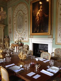 Inveraray Castle Inverary Argyll Scotland UK Dining Room With Table