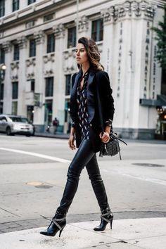 awesome Tendance Chaussures 2017 - une apparence élégante même en cuir, des bottines noires à talon et slim en ...
