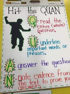 Hit the Quan anchor chart -- constructed response