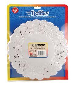 Amazon.com - Hygloss 10081 100-Piece Round Doilies, 8-Inch, White - Childrens Paper Craft Kits $7.33