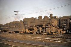 Pennsylvania Railroad Class at Camden, New Jersey on November Long Island Railroad, Old Steam Train, Railroad Companies, Pennsylvania Railroad, Train Engines, Camden, Model Trains, Locomotive, New Jersey