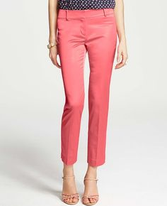 Shantung Ankle Pants Love this color! I have pink capri pants once upon a time and wore them a ton!