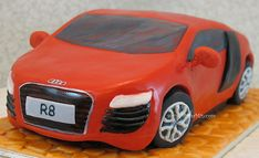 Finally I get to make my favourite car!  Carved cake: Audi R8