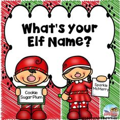 Do you do Elf on a Shelf in your classroom? Is so, this little Elf Naming activity will be a fun addition to your December activities! Let the kids pick out Elf Names for themselves and then show which job they would love to have at the North Pole! Holiday Activities For Kids, Name Activities, School Parties, School Fun, School Ideas, School Stuff, Preschool Christmas, Christmas Fun, Christmas Parties