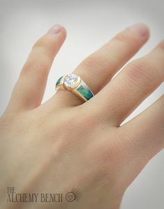 "Yearn for something exquisitely different? ""Blushing Sea - Fortune"" One Carat Diamond and Opal Engagement Ring in Rose Gold One Carat Diamond, Handmade Engagement Rings, Confusion, Wedding Themes, Alchemy, Wedding Bands, Opal, Sapphire, Bench"