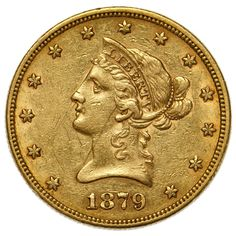 Lot 35: 1879 $10 Gold XF Details;