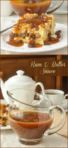 Rum Sauce This Rum & Butter Sauce a. Rum Sauce or Rum Caramel Sauce goes by a few names but either way it is an outstandingly delicious addition to desserts like bread pudding, apple pie or ice cream! Dessert Sauces, Köstliche Desserts, Dessert Recipes, Desserts Caramel, Dinner Recipes, Rum Butter, Butter Sauce, Pudding Recipes, Sauce Recipes