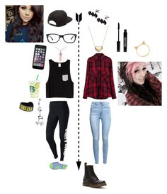 """Holly and Sam's truth or dare night with the guys"" by xxmia-hood-xx ❤ liked on Polyvore featuring moda, NIKE, Ray-Ban, Lord & Taylor, Vans, H&M, Dr. Martens, Signature Gold y Lord & Berry"
