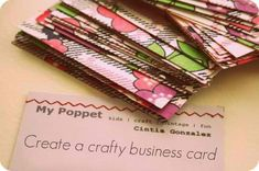 6 Design Tips For The Perfect Craft Business Card http://www.craftmakerpro.com/blog/business-tips/design-tips-for-perfect-craft-business-card/