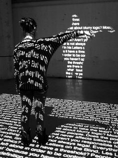 A multi-media installation used typography &  advanced digital technologies to engage the audience.... by NOTA BENE Visual