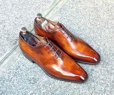 Caulaincourt shoes - Riva - deep cognac