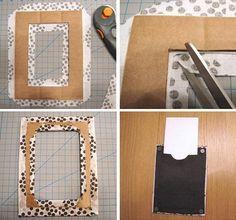 Hacer marco de fotos Decor Crafts, Home Crafts, Fun Crafts, Diy And Crafts, Marco Diy, Mundo Hippie, Cuadros Diy, Diy Home Decor Bedroom, Newspaper Crafts