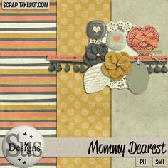 Mommy dearest is a sweet mini kit, simple and versatile and perfect for mommy and me photos You get:3 Patterned papers, 1 Bow, 1 Doily, 2 Flairs, 2 Flowers, 1 heart, 1 leaf, 1 ribbon, s1 stitching, 1 tag, 1 trim  #SusDesigns #DigiScrap #ScrapTakeOut #Scrapbook