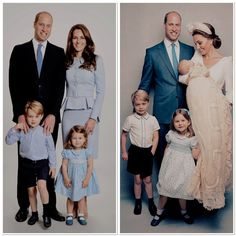 What a difference a year makes 2017 & 2018 Kate Middleton Kids, Kate Middleton Prince William, Prince William Family, Prince William And Catherine, Princess Katherine, Princess Charlotte, Duchess Kate, Duchess Of Cambridge, William Kate Wedding
