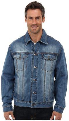 $85, Blue Denim Jacket: Roper Vintage Patriotic Jean Jacket. Sold by Zappos. Click for more info: https://lookastic.com/men/shop_items/176580/redirect