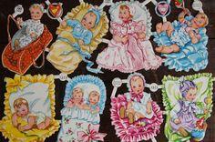 Vintage Babies & Children Paper Scraps/Die Cuts by smileitsvintage