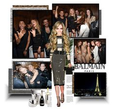 """Balmain S/S 2016 Aftershow - Paris"" by hsane ❤ liked on Polyvore featuring mode et Balmain"