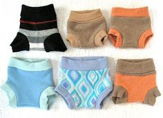 Resweater: recycled wool longies & soakers (diaper covers) patron là : http://katrinassqs.blogspot.com/2007/10/free-soaker-pattern.html