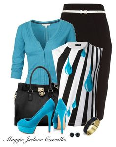 """Striped Tank and a Cardigan"" by maggie-jackson-carvalho ❤ liked on Polyvore"