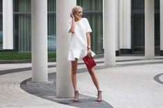 Sukienka z asymetryczną falbaną rozmiar 38 - Cranberrysklep - Sukienki koktajlowe