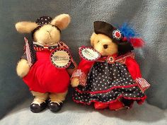 Muffy Vanderbear/Hoppy Vanderhare Yankee Doodle 4th of July set 1992 w/tags | #540255156