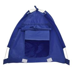 SODIAL(R) Pet Kitten Cat Puppy Dog Mini Nylon Camp Tent Bed Play House Blue-M -- You can get additional details at the image link. (This is an affiliate link and I receive a commission for the sales)