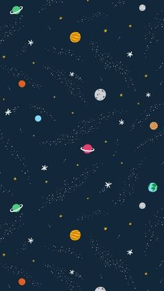 Galaxy Planets Wallpaper