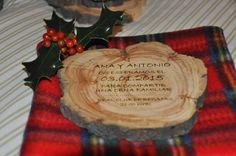 ,,,,: Una invitación de boda que huele a Navidad