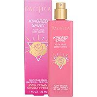 Pacifica's Kindred Spirit Natural Perfume contains notes of crushed, hazy rose dust, myrrh and the scent of piney, lemony palo santo. Formulated with natural raw materials. Pacifica Beauty, Pacifica Perfume, Clean Perfume, Grain Alcohol, Kindred Spirits, 100m, Body Spray, True Beauty, Beauty Care