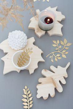 Blätter Untersetzer Herbst DIY von Sinnenrausch