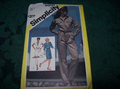 Vintage Discontinued Simplicity 6031 Misses Jumpsuit in two lengths and Dress by vintagecitypast on Etsy