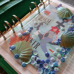 Maritimes #shakerdashboard  für meinen Aquamalden  #maritim #shaker #dashboard #anchor #mermaid #meerjungfrau #filofaxlove #filofax #filofaxmalden #aqua #filofaxaqua #malden #maldenaqua #maldenlove #filofaxdeutschland #filofaxgermany #diy #selfmade #fuse #fusetool #pailettes #muschel by manchmalsonne