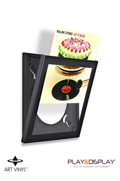 "Art Vinyl 12"" Record Frame (Black). The Play & Display Flip Frame is the only display frame that allows music lovers to display their artwork and easily change the contents without removing the frame from the wall. Vinyl Record Display, Framed Records, Vinyl Records, Inspirational Good Morning Messages, Let It Bleed, Frame Display, Record Collection, Vinyl Art, Music Lovers"