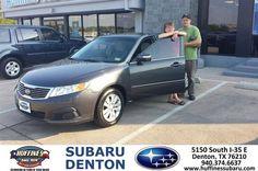 https://flic.kr/p/xj5VMW | #HappyAnniversary to Denis and your 2010 #Kia #Optima from Jerry Paredes at Huffines Subaru Denton! | www.deliverymaxx.com/DealerReviews.aspx?DealerCode=XDJB
