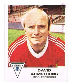 David Armstrong of Middlesbrough - Football 80 - Panini - English & Scottish Leagues Middlesbrough Fc, David Armstrong, Football Season, Childhood Memories, Baseball Cards
