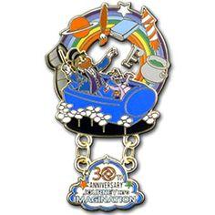 Disney Parks Figment Dragon Vintage Label Epcot Mascot Pin